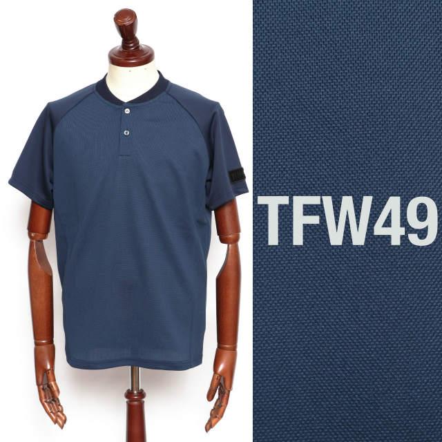 TFW49 ティーエフダブリューフォーティーナイン KNIT KANOCO 商い ヘンリーネック ネイビー 買収 ポロシャツ t102020002-na 100
