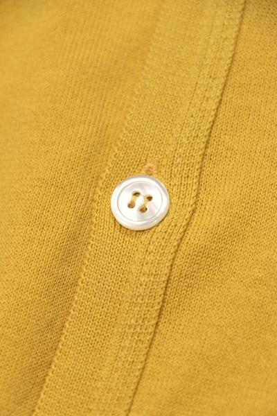 ジョン・スメドレー / JOHN SMEDLEY / シーアイランドコットン Vネックカーディガン 【STEADMAN】 /   steadman-lemondrizzle-yellow 100