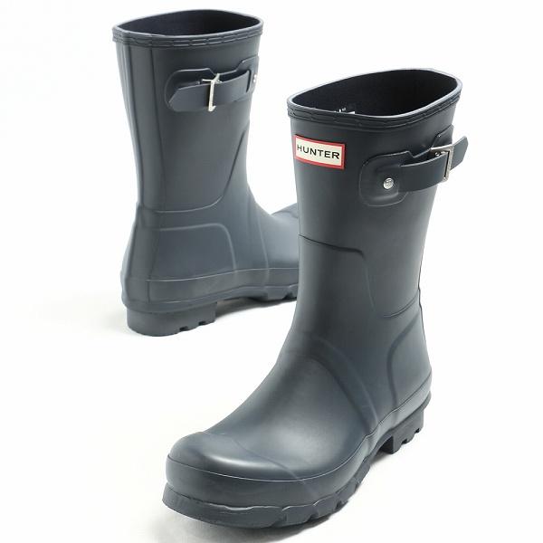 ハンター/HUNTER/ORIGINAL SHORT ショート レインブーツ 長靴 MFS9000RMA / ネイビー【送料無料】 w25675-navy 100