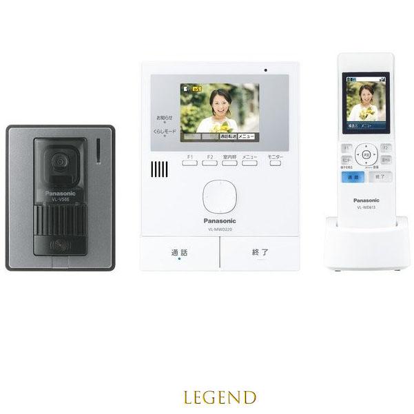 VL-SWD220K Panasonic カラーテレビドアホン どこでもドアホン 玄関子機 モニター親機 ワイヤレスモニター子機セット