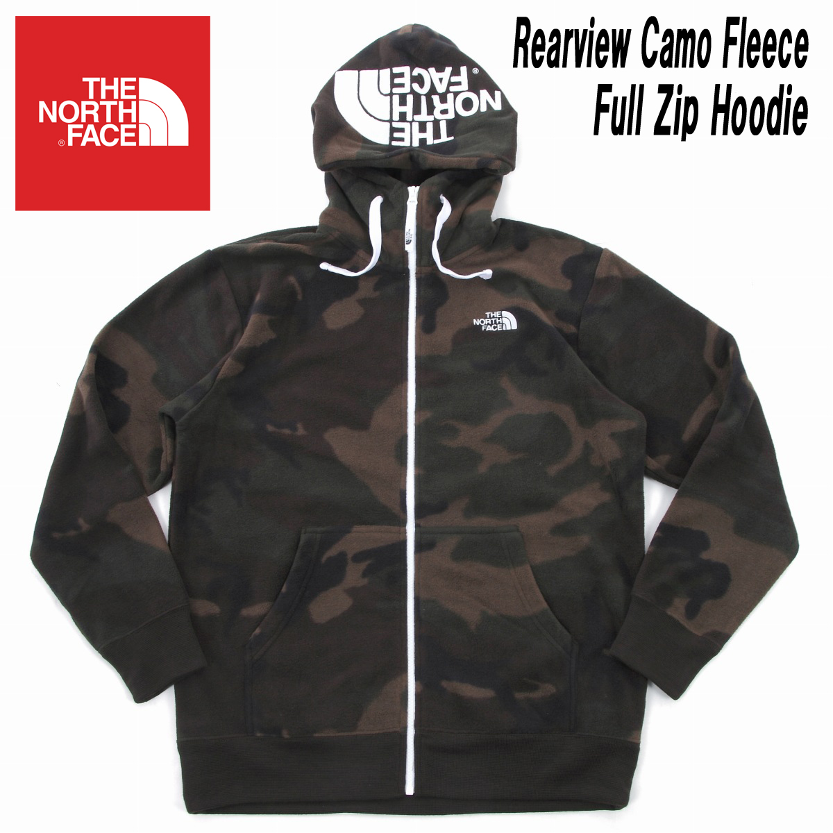 The north face / NORTH FACE REARVIEW CAMO FLEECE HOODIE rear Camo Fleece  Full Zip Hoodie