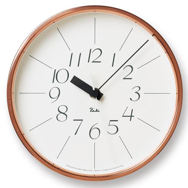 掛け時計 【Lemnos レムノス】銅の時計 WR11-04 掛け時計 Riki 壁掛け 壁掛け時計 掛時計 時計 おしゃれ 渡辺力 人気 デザイン インテリア 北欧 クロック 240147