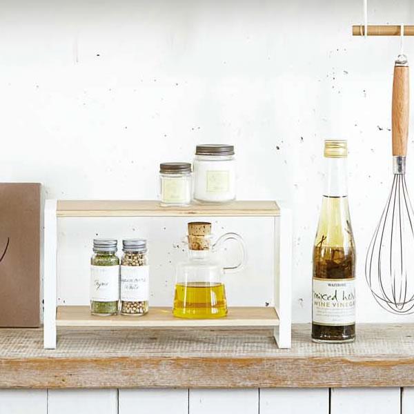 ... Kitchen Rack Kitchen Rack Tosca Seasoning Spice Rack Shelves / Wood /  Steel ...