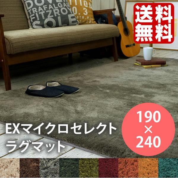 ラグ EXマイクロセレクトラグマット CM200 190×240 長方形 滑り止め 洗える ラグマット こたつ 3畳 スミノエ 240147