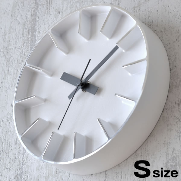 掛け時計 【送料無料】【クロックフック付】 Lemnos レムノス Edge Clock エッジクロック Sサイズ AZ-0116 置き時計 壁掛け時計 時計 インテリア デザイン 壁掛け アルミニウム おしゃれ モダン シンプル AZUMI