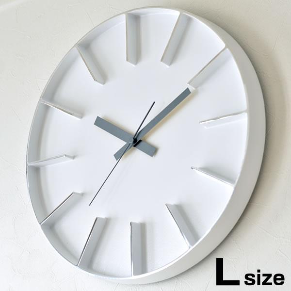 掛け時計 【クロックフック付】 Lemnos レムノス Edge Clock エッジクロック Lサイズ AZ-0115 壁掛け時計 時計 インテリア デザイン 壁掛け アルミニウム おしゃれ モダン シンプル AZUMI
