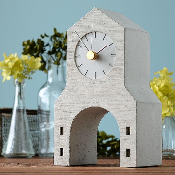 置き時計 【レビュー特典付】 Lemnos レムノス Town Clock タウンクロック NSP16-08 置時計 佐藤 延弘 北欧 オブジェ モルタル PULL+PUSH PRODUCTS. アート
