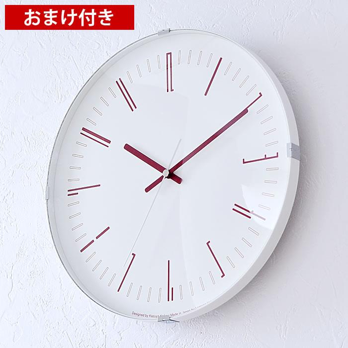 タカタレムノス lemnos 掛け時計 電波時計 ドローウォールクロック Draw wall clock KK18-12 おしゃれ 北欧 SKPムーブメント 電波 時計 壁掛け ブラック レッド シンプル 大きい 連続秒針 レムノス 日本製 プレゼント 新築祝い