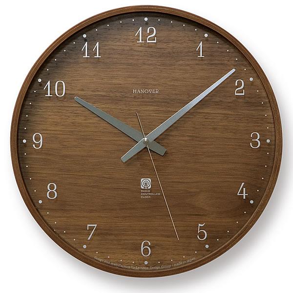 掛け時計 Lemnos レムノス BROWNIE ブラウニー Lサイズ掛け時計 PC07-04L 電波時計 電波掛け時計 壁掛け 壁掛け時計 掛時計 時計 デザイン掛け時計 アナログ掛け時計