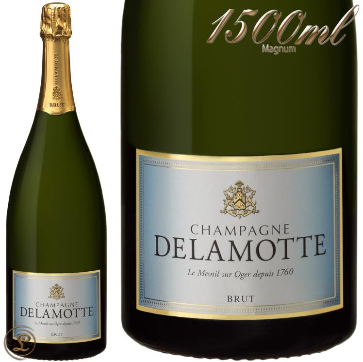 NV ブリュット マグナム ドゥラモット 正規品 シャンパン 辛口 白 1500ml Delamotte Brut Magnum