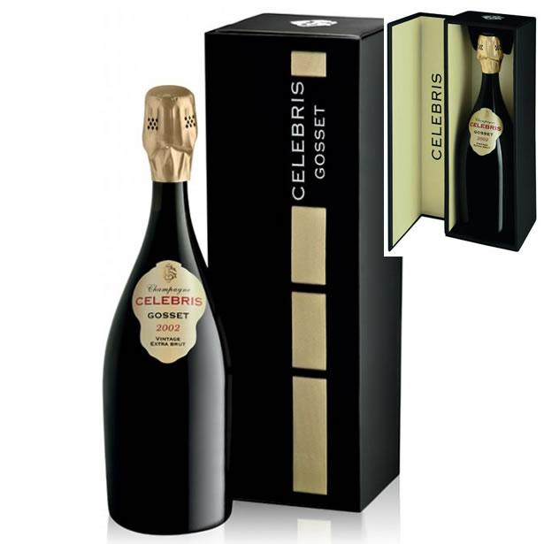 2002 セレブリス エクストラ ブリュット ゴッセ ギフトボックス シャンパン 辛口 白 750ml GOSSET Celebris Extra Brut Gift Box