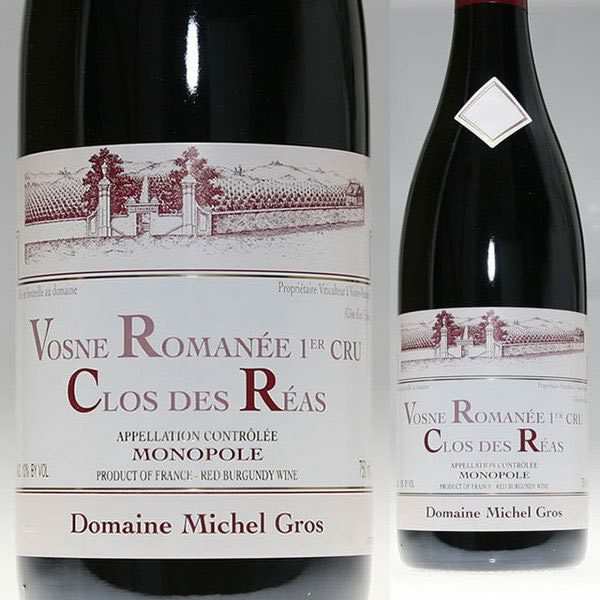 2012 ヴォーヌ ロマネ プルミエ クリュ クロ デ レア ミシェル グロ モノポール 正規品 赤ワイン 辛口 750ml Michel Gros Vosne Romanee Clos des Reas