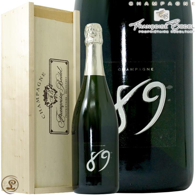 NV キュヴェ89 ブリュット ナチュール フランソワーズ ベデル 木箱入り 正規品 泡 シャンパン 白 750ml Francoise Bedel Cuvee 89 Brut Nature
