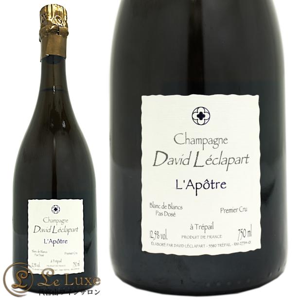 ダヴィッド レクラパールプルミエ クリュ ラポートル ブラン ド ブラン ノン ドゼ NV(2009)シャンパン 辛口 白 750mlDavid LeclapartL'Apotre 1er Cru Blanc de Blancs Non Dose NV (2009)