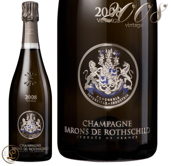 2008 ブラン ド ブラン ヴィンテージ バロン ド ロスチャイルド シャンパン 辛口 白 750ml Barons de Rothschild Brut Blanc de Blancs Vintage 2008