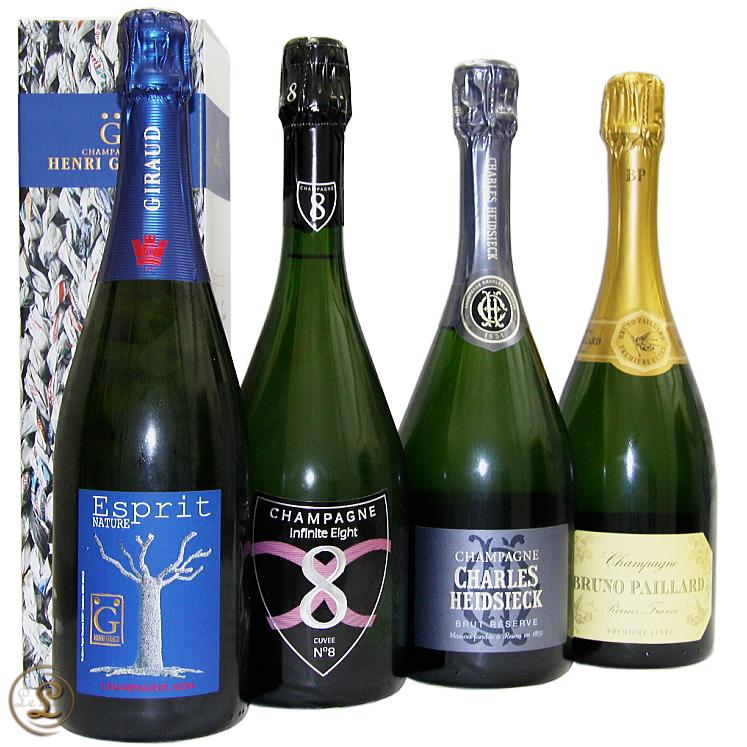 シャンパーニュ・メゾン究極の4本SET!champagne Maison Special 4set シャルル・エドシック / Charles Heidsieckブルーノ・パイヤール / Bruno Paillardインフィニット・エイト / Infinite Eightアンリ・ジロー / Henri Giraud