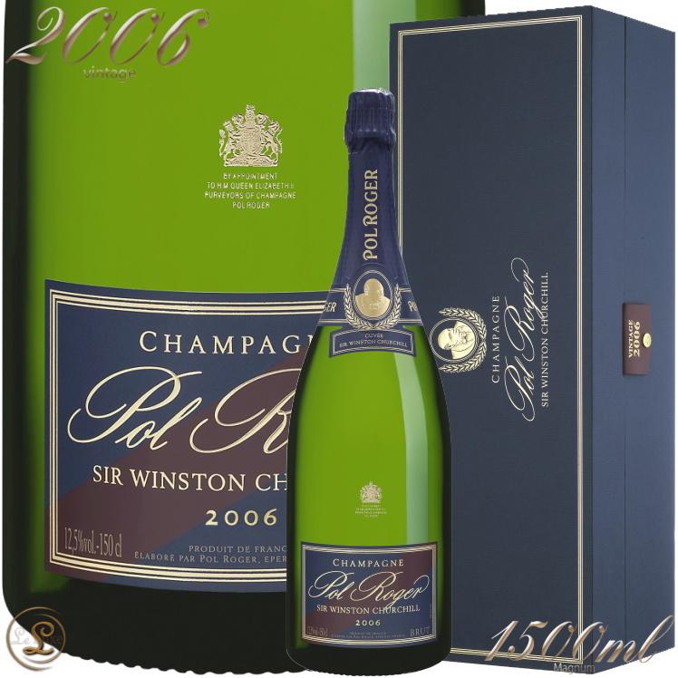 2006 キュヴェ サー ウィンストン チャーチル マグナム ポル ロジェ 正規品 箱入り シャンパン 辛口 白 1500ml ギフトボックス Pol RogerCuvee Sir Winston Churchill Gift Box Magnum