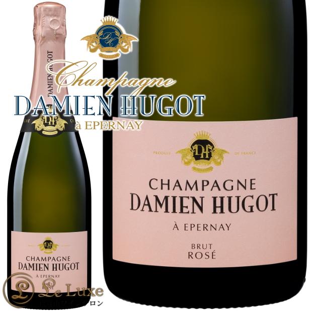 ブリュット ロゼ NV ダミアン ウーゴ 正規品シャンパン 辛口 ROSE 750mlDamien Hugot Champagne Brut Rose NV