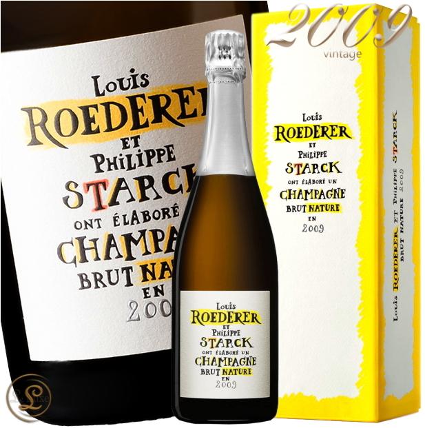 2009 ブリュット ナチュール フィリップ スタルク モデル ルイ ロデレール 2009 シャンパン 辛口 白 750ml ナチューレ Louis Roederer Brut Nature Philippe Starck Model Gift Box