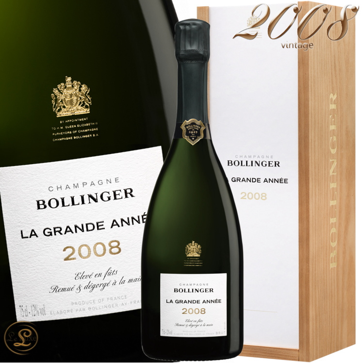 2008 グラン ダネ ブラン ボランジェ 箱入り 正規品 シャンパン 辛口 白 750ml ギフトボックス Bollinger La Grande Annee BOX