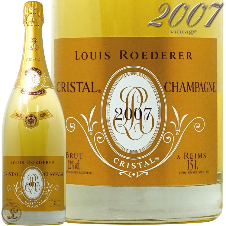 2007 マグナム クリスタル ブリュット ヴィンテージ ルイ ロデレール シャンパン 白 辛口 750ml Louis Roederer Cristal Brut vintage Magnum