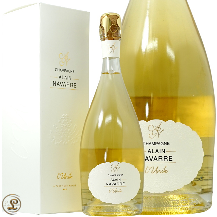 NV リュニック アラン ナヴァール ギフトボックス 正規品 シャンパン 辛口 白 750ml 箱入り 限定生産 Alain Alain Navarre L'Unik Blanc de Blancs NV BOX