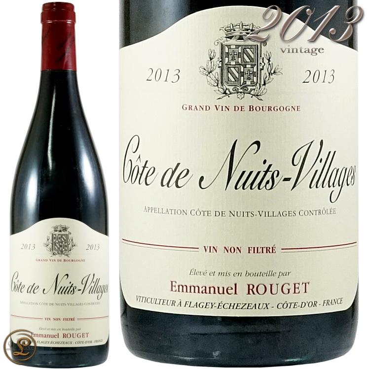 2013 コート ド ニュイ ヴィラージュ エマニュエル ルジェ 赤ワイン 辛口 750ml Emmanuel Rouget Cotes de Nuits Villages