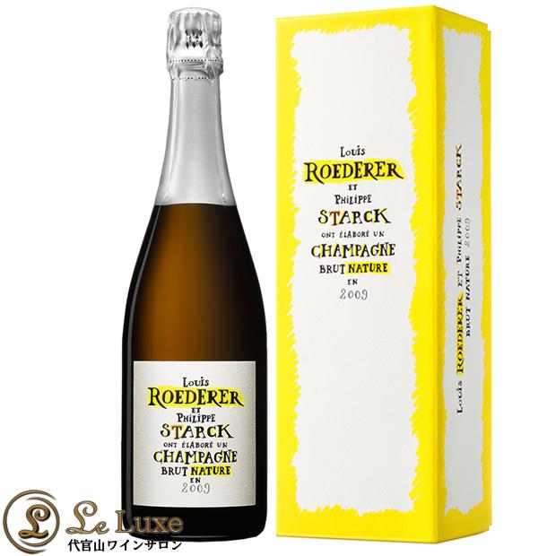 ルイ ロデレールブリュット ナチュール フィリップ スタルク モデル 2009正規品 シャンパン 極辛口 白 750ml ナチューレ Louis RoedererBrut Nature Philippe Starck Model BOX 2009