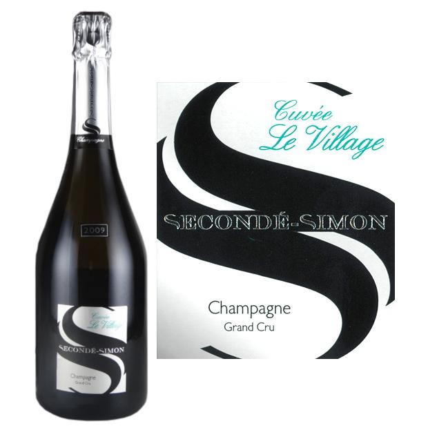 スゴンデ・シモン ブリュット・グラン・クリュ・キュヴェ・ル・ヴィラージュ[2009][正規品] シャンパン[750ml] Seconde Simon Brut Grand Cru Cuvee Le Village 2009