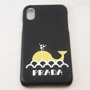 【新古品】【未使用品】【PRADA】【プラダ】Saffianoレザー iPhoneX、 XS対応 くじらスマホカバー