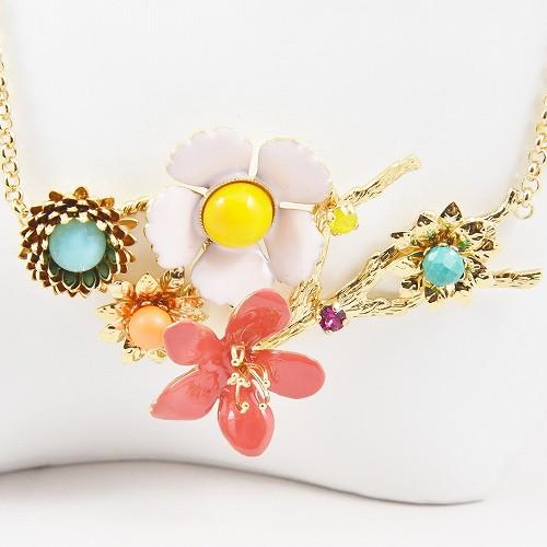 2020年春夏新作 フィリップフェランディス(Philippe Ferrandis) カプシーヌS 5つの花のネックレス アクセサリー レディース パーティー おしゃれ プレゼント