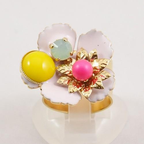 2020年春夏新作 フィリップフェランディス(Philippe Ferrandis) カプシーヌS 3色の花のリング アクセサリー レディース パーティー おしゃれ プレゼント