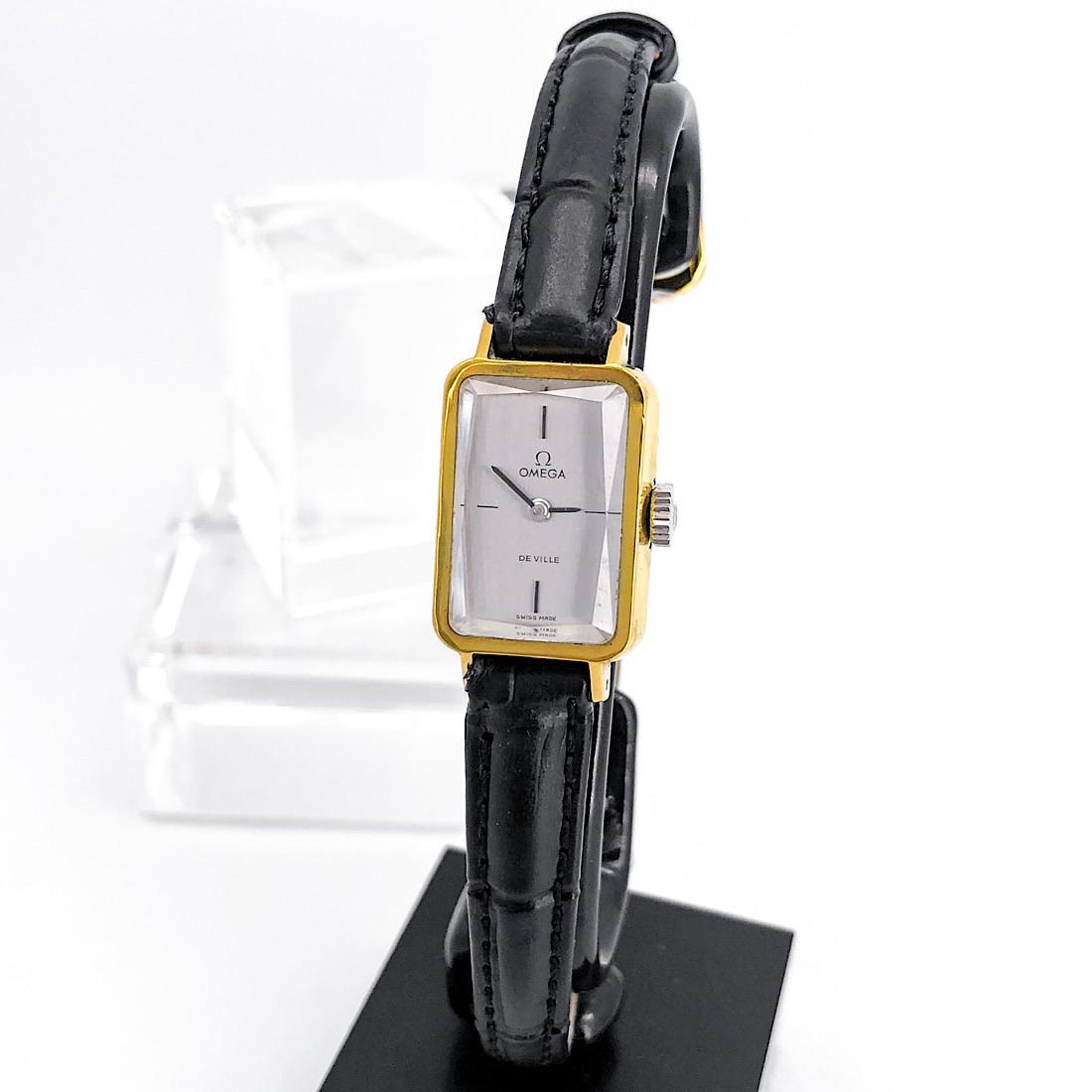 【OH済/仕上済】オメガ OMEGA デビル カットガラス ゴールド レディース 腕時計 時計【中古】【送料無料】
