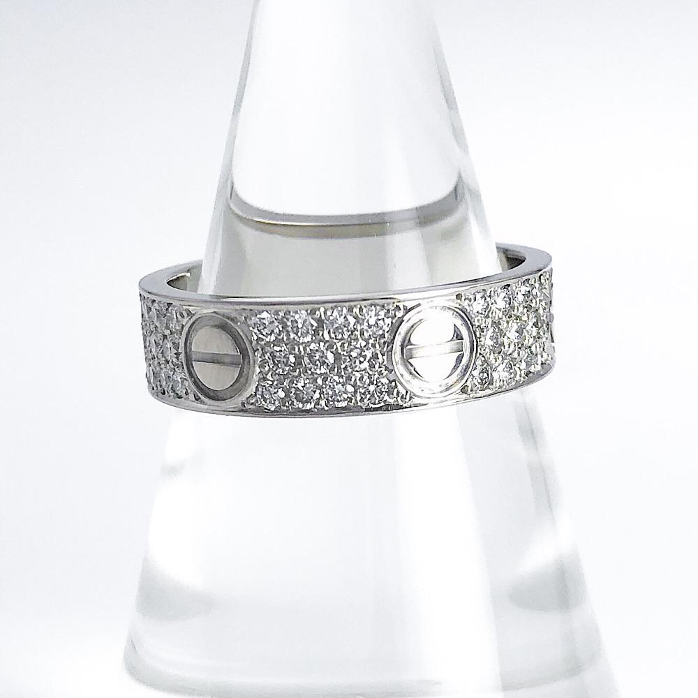 【仕上済】CARTIER カルティエ ラブリング WG ダイヤ ダイヤモンド 15号 レディース メンズ 指輪 リング【中古】【送料無料】