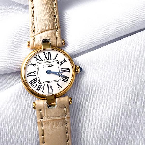 【仕上済】CARTIER カルティエ ヴァンドーム オパラン SM レディース ベルト2本付 腕時計 時計【中古】【送料無料】