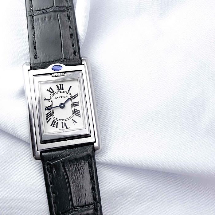 【保証書付】CARTIER カルティエ TANK タンク バスキュラント レディース 腕時計 時計 【中古】【送料無料】