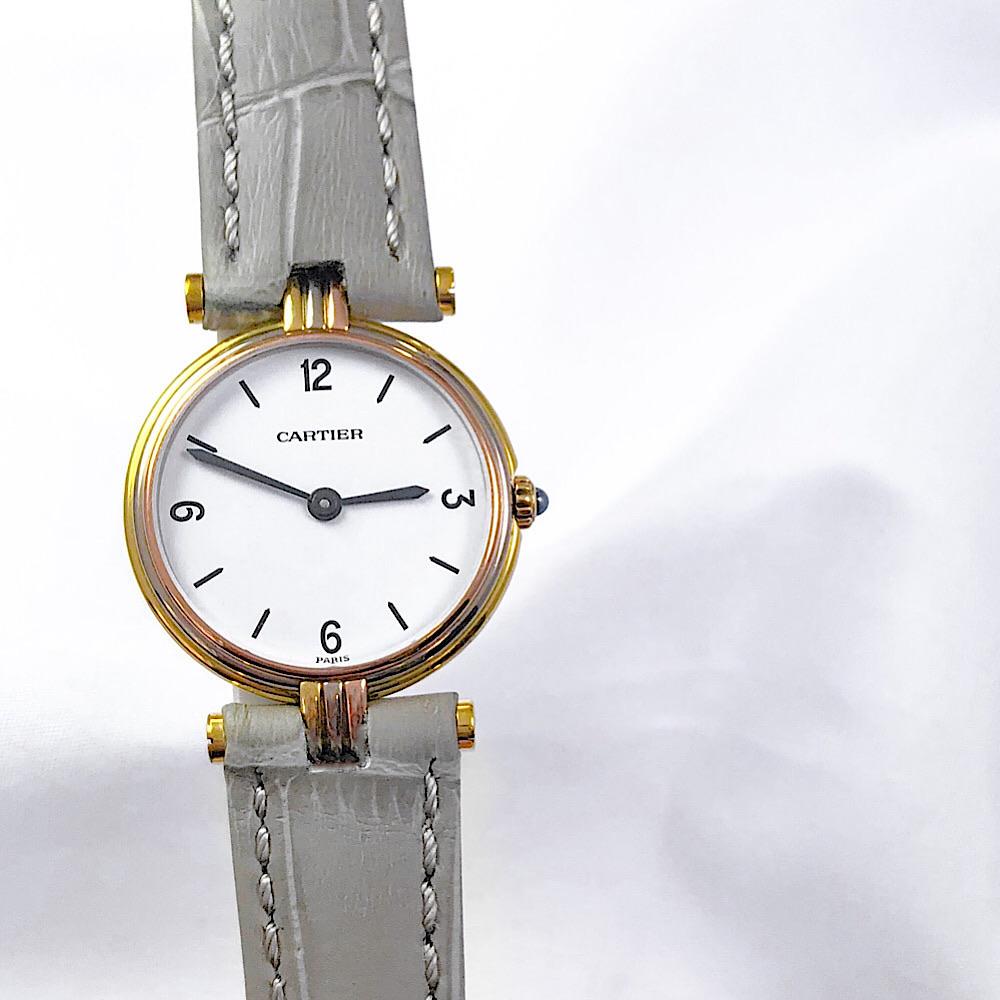 仕上済 カルティエ CARTIER ヴァンドーム スリーゴールド K18 レディース 時計 腕時計 送料無料 開業祝 謝礼 ギフトラッピング 出産祝 七夕祭り