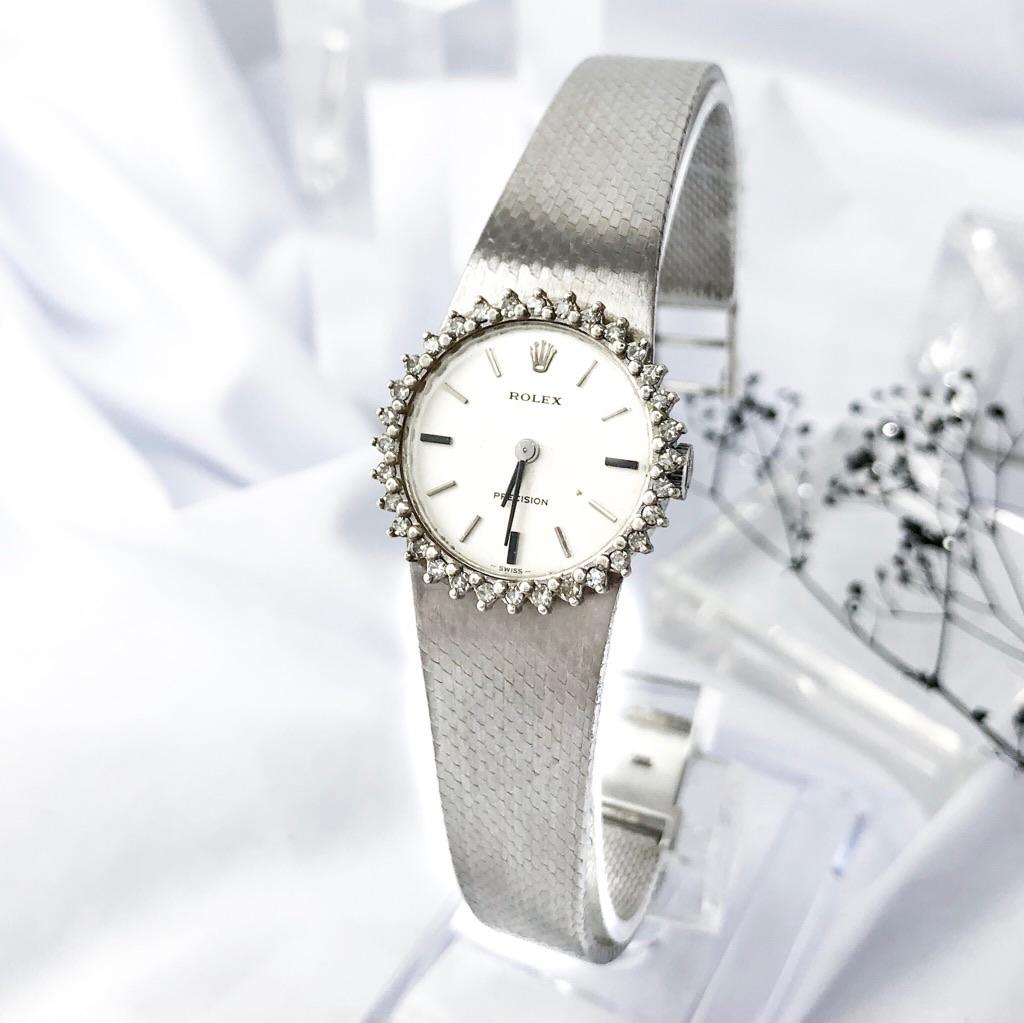 【仕上済】ロレックス ドレスウォッチ アンティーク ダイヤ ダイヤモンド レディース 腕時計 時計 【中古】【送料無料】