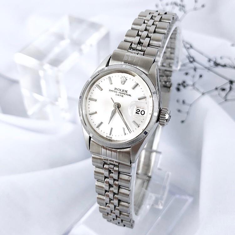 【仕上済】ロレックス Rolex オイスター デイト シルバー レディース 腕時計 時計【中古】【送料無料】