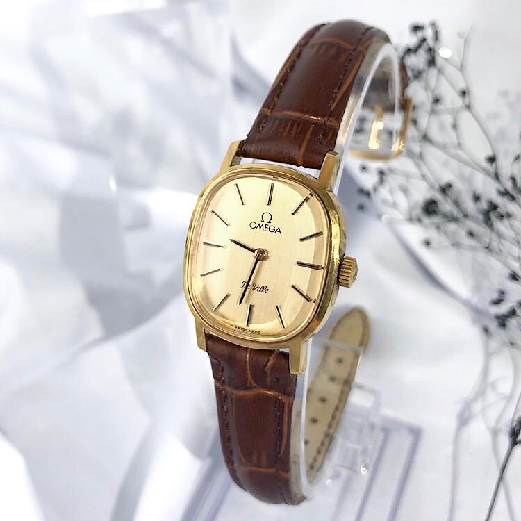 【OH済/ベルト新品】オメガ OMEGA デビル スクエア ゴールド レディース 腕時計 時計【中古】【送料無料】