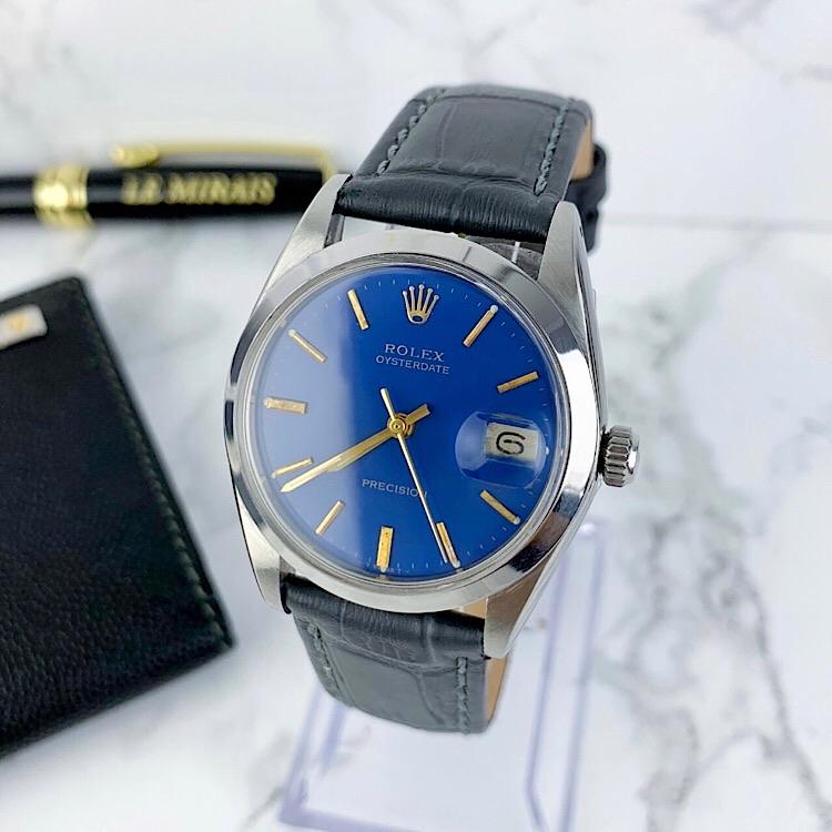 【OH済/ベルト新品】ロレックス ROLEX オイスター デイト シルバー メンズ 腕時計 時計 【中古】【送料無料】