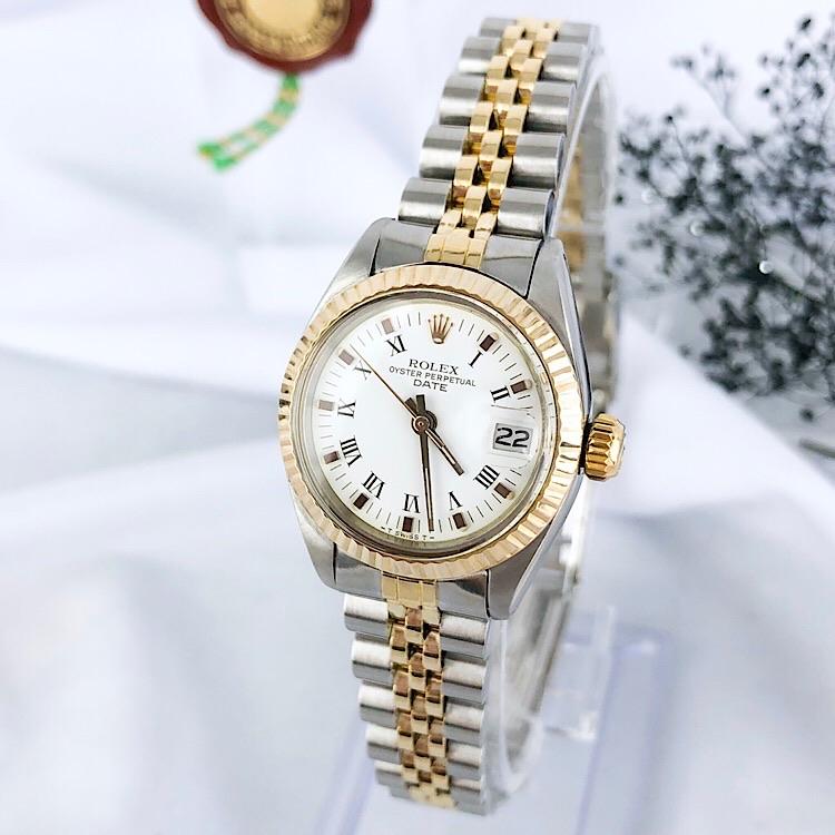【仕上済】ロレックス ROLEX オイスター デイト コンビ レディース 腕時計 時計【中古】【送料無料】