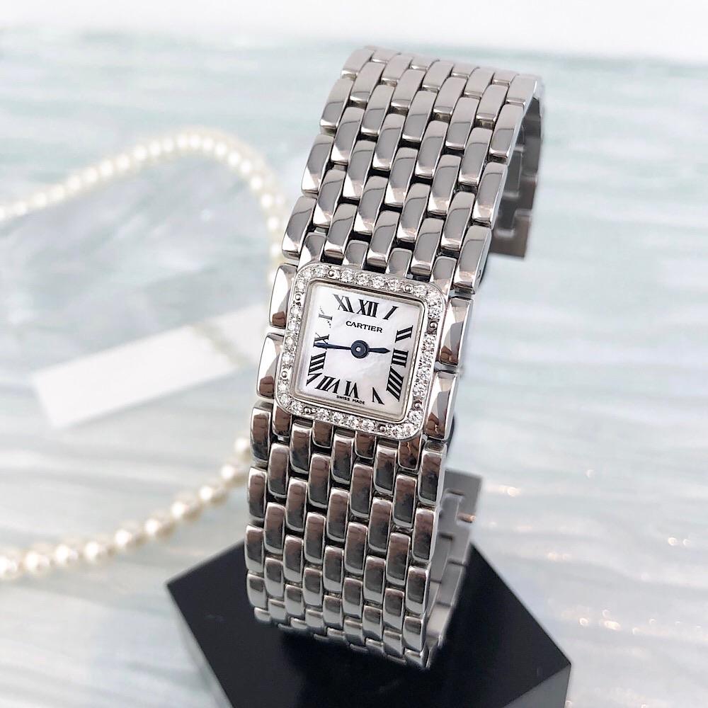 【仕上済】カルティエ CARTIER リュバン シルバー ダイヤ ダイヤモンド 鑑定書付 レディース 腕時計 時計【中古】【送料無料】