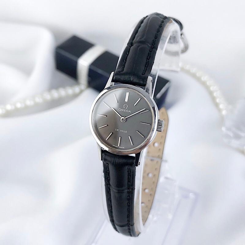 【仕上済】オメガ OMEGA デビル シルバー ベルト三本付 純正箱付 レディース 腕時計 時計【中古】【送料無料】