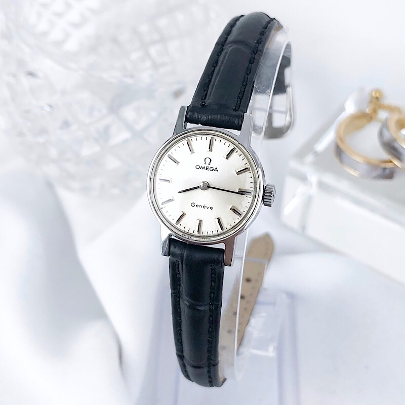 【OH済/仕上済】オメガ OMEGA ジュネーブ シルバー レディース 腕時計 時計【中古】【送料無料】