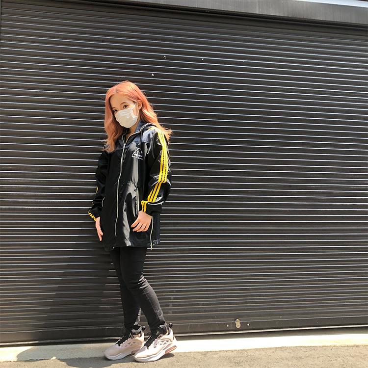 ラインパーカー【ブラック×イエロー】