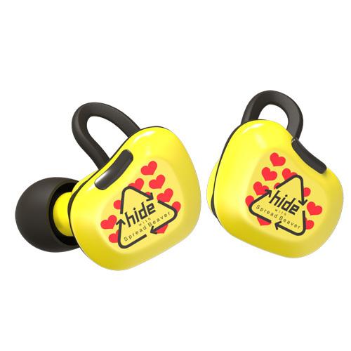 hideTRUEWIRELESSSTEREOEARPHONES〜YellowHeartType
