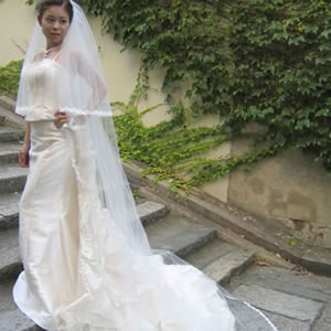 ウェディングベール ロングベール エレナ 250cm | ロング ベール ウェディング ウエディング ブライダル 結婚式 花嫁 ホワイト オフホワイト ウェディングドレス ヴェール レース 250