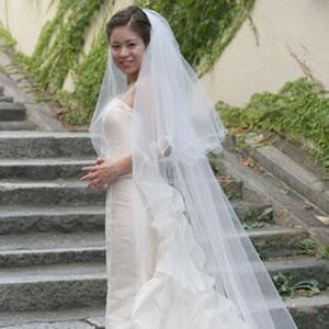 ウェディングベール ロングベール メロウベール 250cm | ロング ベール ウェディング ウエディング ブライダル 結婚式 花嫁 メロウ ホワイト オフホワイト アイボリー シンプル ウェディングドレス ヴェール 250