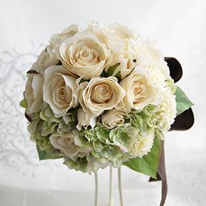 ウェディングブーケ 造花 ブーケ ニュアンスローズとアジサイの ラウンドブーケ ブートニア 付き | ウエディングブーケ ブライダルブーケ ウェディング ウエディング ブライダル ラウンド あじさいバラ 結婚式 アイボリー おしゃれ 海外挙式 花嫁 前撮り アンティーク